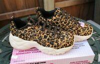 Ladies Skechers D'Lites Jungle Fashion Air Cooled Memory Foam UK 4 New In Box
