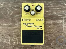 Boss SD-1, Super Overdrive, Made In Japan, 1984, Vintage Guitar Effect Pedal