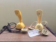 Coppia Telefoni Ericsson Cobra - FUNZIONANTI - Giallo E Beige - Made Sweden