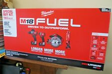 New! Milwaukee M18 FUEL 4 Tool Combo Kit w/Batteries + Charger  2998-24 (6652)