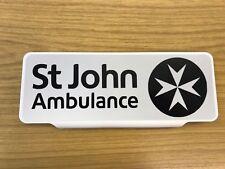 St John Ambulance Reflective Background With Black Logo Sign visor Safe Response