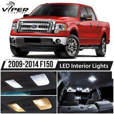 2009-2014 Ford F150 F-150 White Interior LED Lights Package Kit + License Lights
