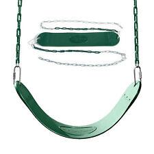 REGULAR DUTY SWING SEAT Flexible Outdoor Backyard Kids Fun Green 115 Lb Capacity