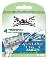 Wilkinson Sword Quattro Titanium Sensitive Razor Blade Cartridges -8 Pack