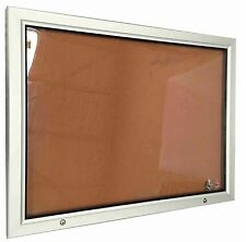 Outdoor Lockable Notice Board Corkboard Weather Proof 9xA4