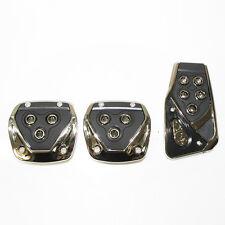Noir chrome voiture pédale couvre pads antidérapants pour peugeot 207 307 308 309 306