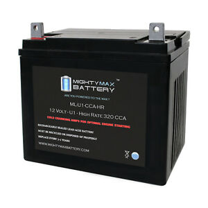 Mighty Max ML-U1-CCAHR 12V 320CCA Battery for Craftsman 25780 Lawn Tractor Mower