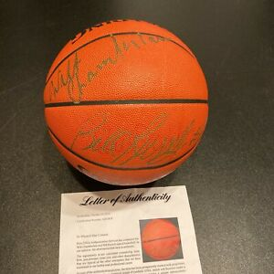 Wilt Chamberlain & Bill Russell Signed Spalding NBA Game Basketball PSA DNA COA