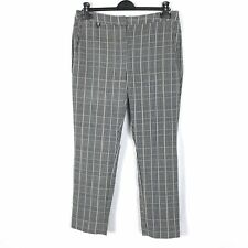 ADRIANNA PAPELL Women's Size 16 UK Cropped Capri Work Career Checked Trousers