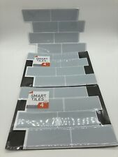 New Smart Tiles Self-Adhesive Wall Tiles 8 Sheets Total