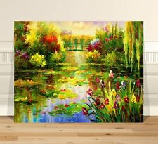 "Stunning Vintage Fine Art ~ CANVAS PRINT 24x18"" ~ Garden Of Monet"