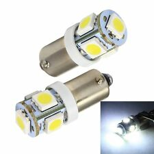 10Pcs 24V White 5SMD BA9S T4W Car LED Side Licnese Dome Bulb Side Light W6W 182