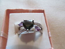 Unbranded Sterling Silver Solitaire with Accents Fine Rings