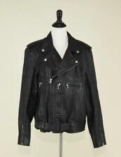 J.CREW $995 MEN'S ITALIAN LEATHER STUDDED MOTORCYCLE JACKET BOMBER L BLACK B6384