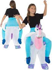 Ragazze Cavalluccio Unicorn Costume Ride On Vestito 12 Anni Nuovo