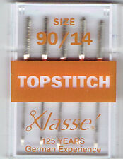 Klasse Topstitch Machine Needles for Janome Brother Sewing Machines 80/12