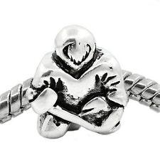 """""""Hockey Player"""" Spacer Bead for European Snake Chain Bracelets"""