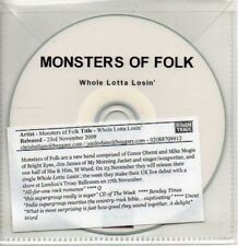 (AB107) Monsters Of Folk, Whole Lotta Losin' - DJ CD