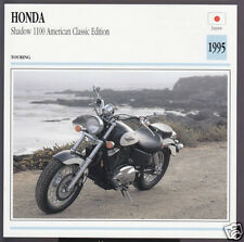 1995 Honda Shadow 1100cc American Classic Edition Motorcycle Photo Spec Card
