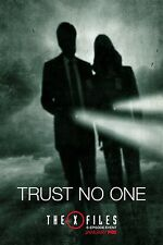 """THE X FILES 2016 TV SERIES FOX TELEVISION """"TRUST NO ONE"""" PROMO POSTER 2"""