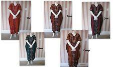*WB1 New Multicolour Batik 100% Cotton Kaftan Maxi Dres Nighty Long Tunic Beach