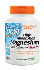 Doctor's Best High Absorption Magnesium Dietary Supplement, 200 mg per 2 tablets