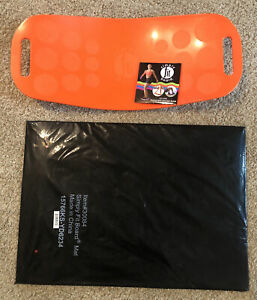 Simply Fit Orange Balance Board & New #30084 Mat with Sealed Workout DVD & Guide