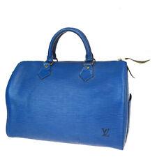 Auth LOUIS VUITTON Speedy 30 Travel Hand Bag Epi Leather Blue M43005 36BP169