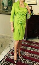 Frank Lyman Mother of Bride/Groom outfit. Dress & jacket, lime green, size 10-12