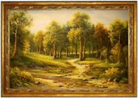Ölbild Waldlandschaft,Flusslandschaft, Landschaft ÖLGEMÄLDE HANDGEMALT F:60x90cm