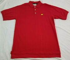 SLAZENGER AUGUSTA NATIONAL MASTERS Mens Polo Shirt RED LARGE Vintage