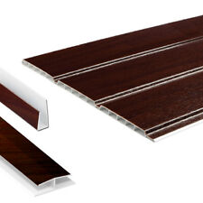 Rosewood Hollow Soffit Board / UPVC Plastic Panel Cladding & Trims - 5m Lengths