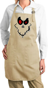Ladies Halloween Apron Ghost Face