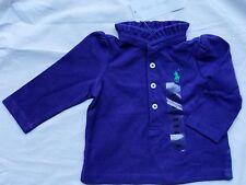 Ralph Lauren 3 6 month shirt top designer purple baby girl shower gift Newborn