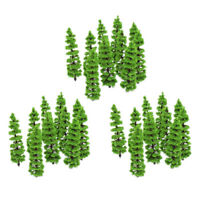 30 Pack 1:100-1:150 Scale Miniature Model Fir Trees for Model Railroad Supplies