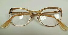 Vintage 50s Gold Filled Cat Eye Secretary Glasses 1/10 12k Gf 20