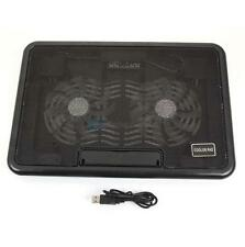 "USB 2 Fan Cooler Cooling Pad Powerful Foldable Stand for 12-15"" Laptop Notebook"