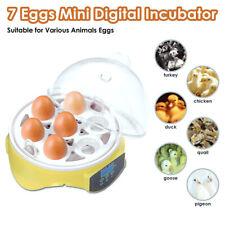 New listing Digital 7 Eggs Incubator Chicken Duck Bird Quail Hatcher Temperature Control Ku