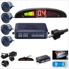 12V 4 Parking Sensors LED Display Human Voice Autos Reverse Backup Radar System