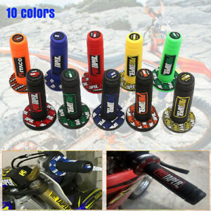 "ATV Scooter Dirt Pit Bike 7/8"" 22MM Hand Grips Rubber Handlebar 10 Colors"