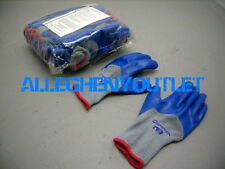 1 Pair North PREMIUM QUALITY Latex Palm-Dipped Blue Small Rubber Work Gloves