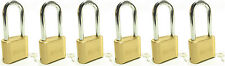 Lock Brass Master Combination #175LH (Lot of 6) Long Shackle Resettable Secure