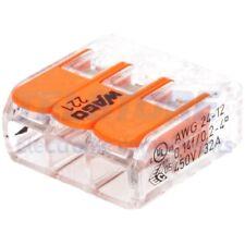 2 pcs 221-413 Morsetto connettore rapido per installazioni 221 PIN 3 32A WAGO