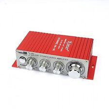 Kinter MA180 12V MINI Power Car Computer Amplifier USB Port Charging (Red)
