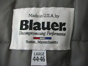 BLAUER MEN'S LARGE (44-46) BROWN GORE-TEX POLICE JACKET ZIP OUT LINER + HOOD