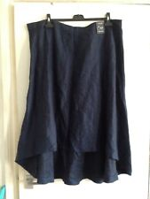 Marks and Spencer Autograph High Low Linen Skirt Size 22