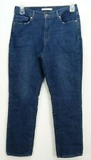 Nuovo Levi's Donna Classico Dritto Taglio Gamba Elasticizzato Blu Denim Jeans 12