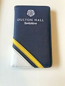 Luxury Golf Scorecard Holder With Pen Loop - Faux Leather NEW