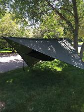 Tent Hammock - Lightweight Camping System, Hammock, Rainfly & Straps (BLUE)