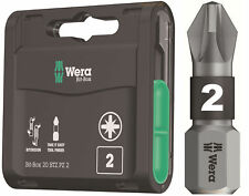 20 x WERA 25mm Destornillador de impacto PZ2 Pozi 2 bitorsión EXTRA RESISTENTE